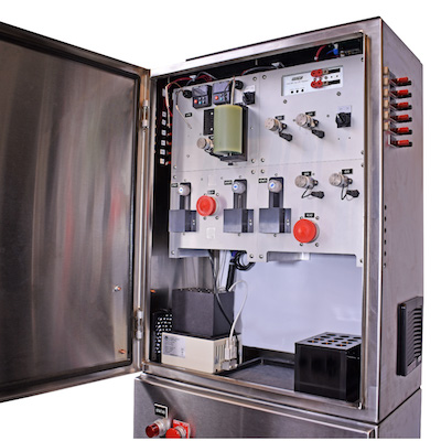 View of a fully assembled Process Analyzer with all accessories